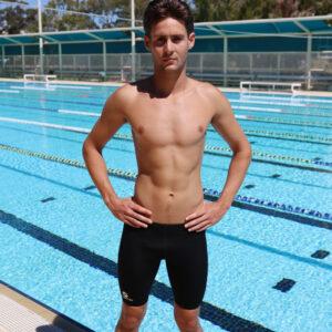 Swimtek Male SwimwearBlackJammers FRONT