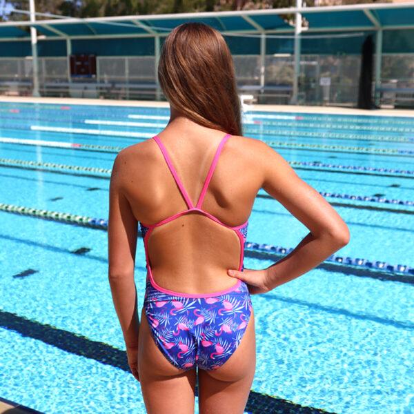 Swimtek Female Flamingo BACK