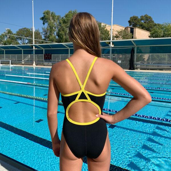Swimtek Female Flybacks YELLOW BACK