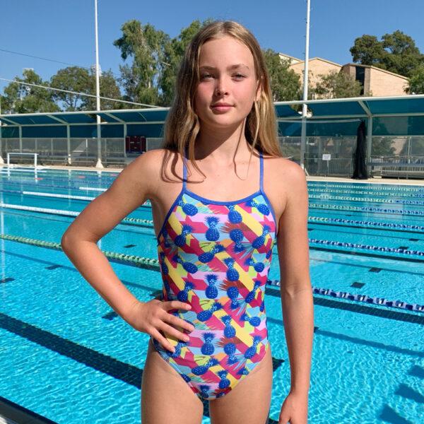 Swimtek Female Retro-Pineapple FRONT
