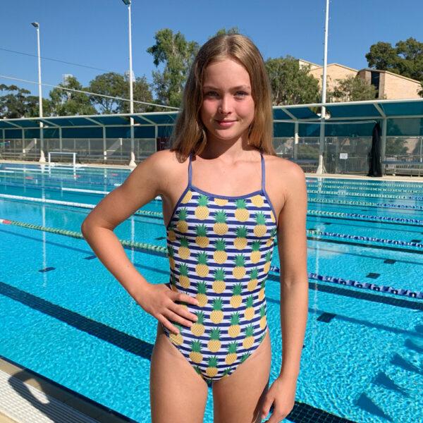 Swimtek Female Summer-Pineapple FRONT