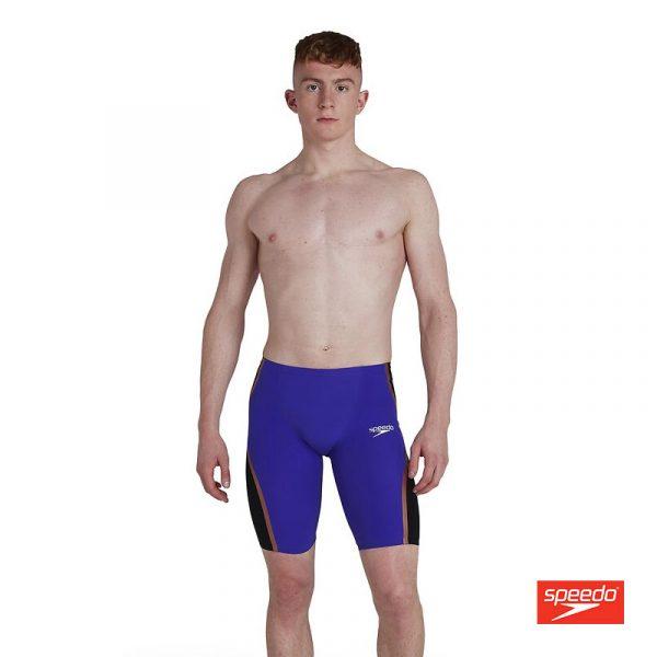 Swimtek Male Swimwear LZR Intent Mens HG Wst Jammer Black Purple Front