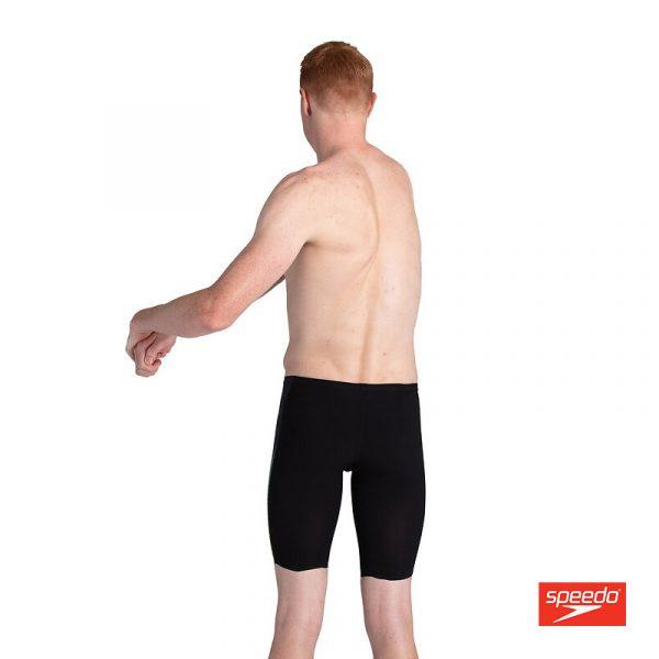 Swimtek Male Swimwear LZR Valor Jammer Black Yellow Back